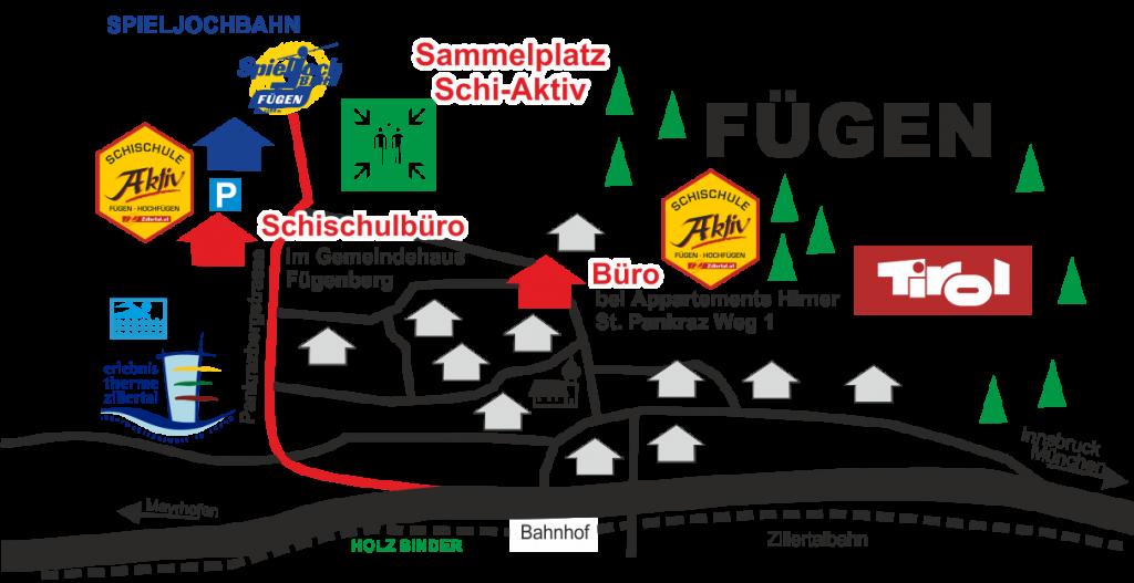 Ski Aktiv Lageplan